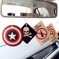 Gspscn 2 unids camión coche colgando fragancia perfumada papeles para hero captain america superman coche perfume ambientador de aire freshene