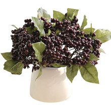 Artificial Flower Christmas Bean Branch Berry Single Fake Wedding Home Decoration Branches Fruit