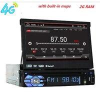 7 Универсальный 1Din android7.1Car аудио DVD плеер + радио + gps навигация + Авто + стерео + Bluetooth + ПК + DVD помощи при парковке + SD USB RDS Aux