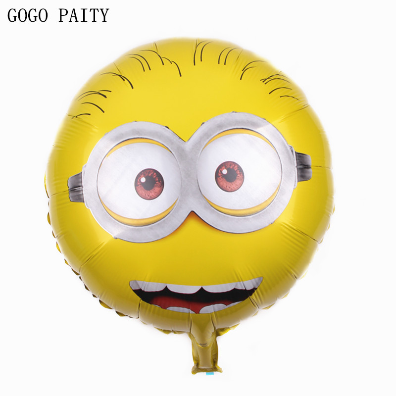 GOGO PAITY  Free shipping 18 inch cartoon characters monocular eyes aluminum balloon birthday arrangements