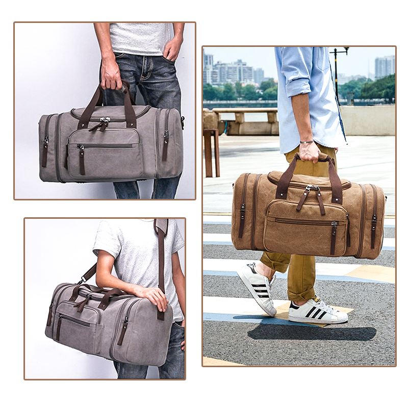 Original Z.L.D Canvas Heren Reistassen Handbagage Tassen Heren - Trolley en reistassen - Foto 2
