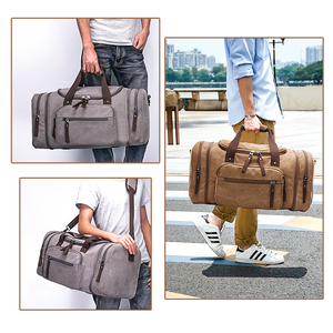 Image 2 - MARKROYAL sacs de voyage en toile souple pour hommes, sacs fourre tout de voyage pour week end, sac de grande capacité, livraison directe