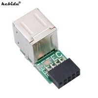 Kebidu Heißer 3 teile/los USB 2,0 9Pin Weibliche 2 Port EINE Weibliche Adapter Konverter Motherboard PCB Board Karte Extender Interne PC