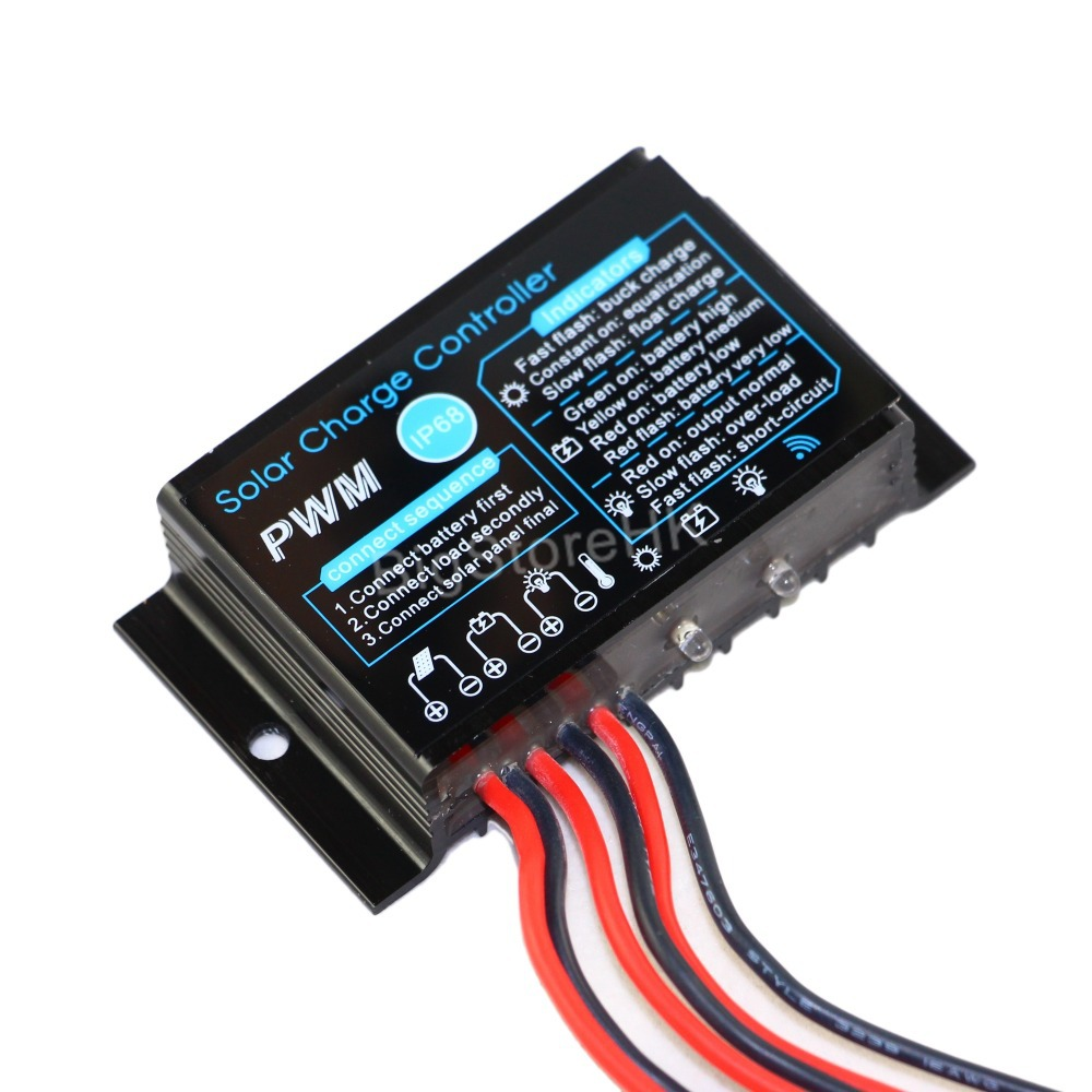 10a Solar Charge Controller 12v Waterproof Ip68 Panel Battery Circuit Outdoor Use For Pv System In Controllers From Home