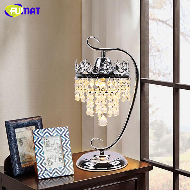 FUMAT K9 Crystal Table Lamp Foyer Sitting Room Living Room Bedside Crystal Table Lamp LED Dimming Lights Lustre Decor Table Lamp fumat stained glass table lamp high quality goddess lamp art collect creative home docor table lamp living room light fixtures