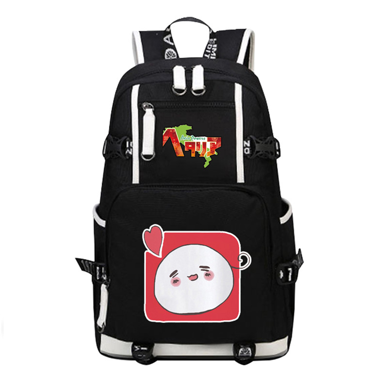 Hot Japanese Anime Axis Powers Printing Backpack Harajuku APH Emoji Kawaii School Bags for Teenage Girls Canvas Laptop Backpack new card captor sakura printing backpack kawaii women shoulder bags sakura laptop backpack canvas school bags for teenage girls