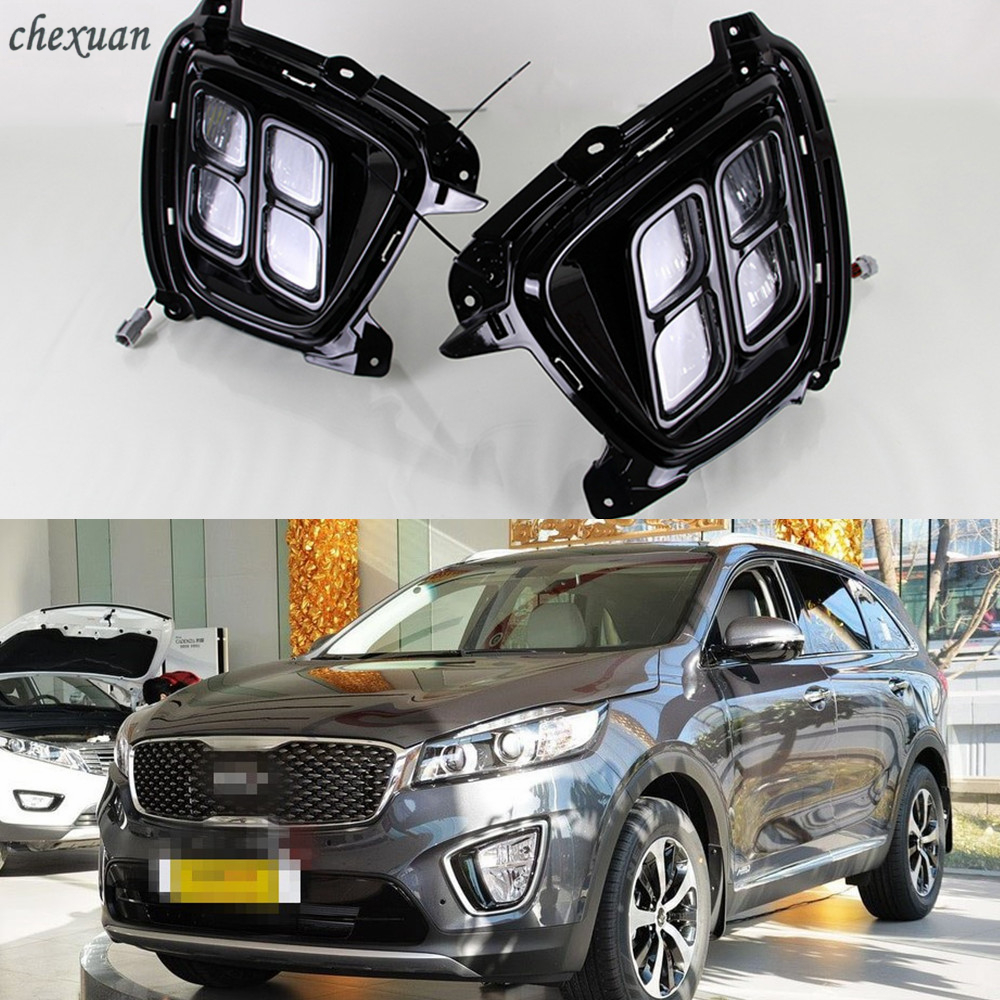 CSCSNL 1 Set LED DRL Daytime Running Lights 12V ABS Fog Lamps Cover Driving Lights Accessories