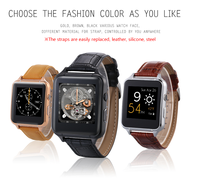 X7 smart watch 1 54 IPS hd screen curve watch smartwatch bluetooth with camera stand sim