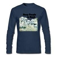 Deep Purple Band T Shirt England Music Rock Men Tshirt Heavy Metal Band High Quality Long
