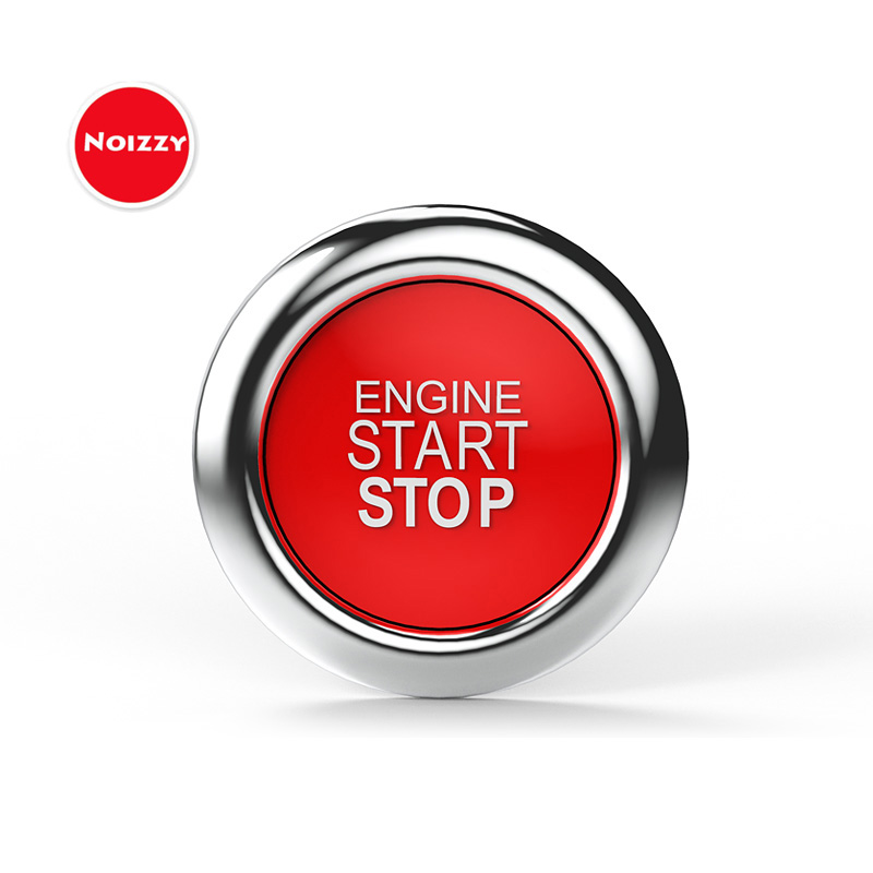 Noizzy Fake Engine Start Stop Button Car Stickers Red Auto Fun Badge Emblem 100% 3D Metal Vehicles Interior Car Styling