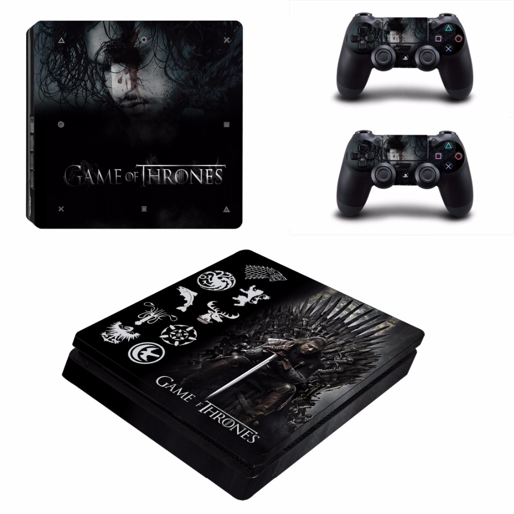 Game of Thrones Winter is Coming PS4 Slim Skin Sticker For Sony PlayStation 4 Console and 2 Controllers PS4 Slim Sticker Decal
