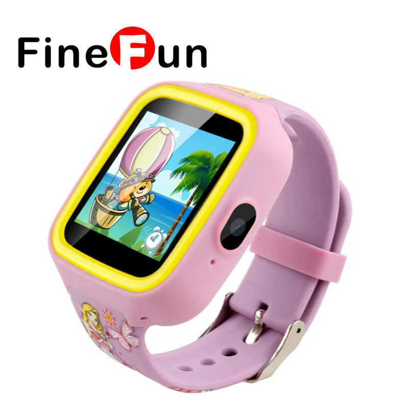 ФОТО FineFun Q5 Smart Watch Phone Children Baby SOS GPS locator Anti-lost Remote Camera Touch Screen Better Than Q50 Child Gift To