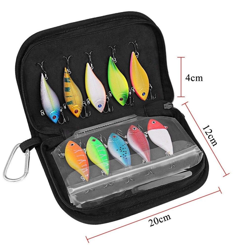 PLUSINNO 10pcs Fishing Lure Crankbait Kit  4