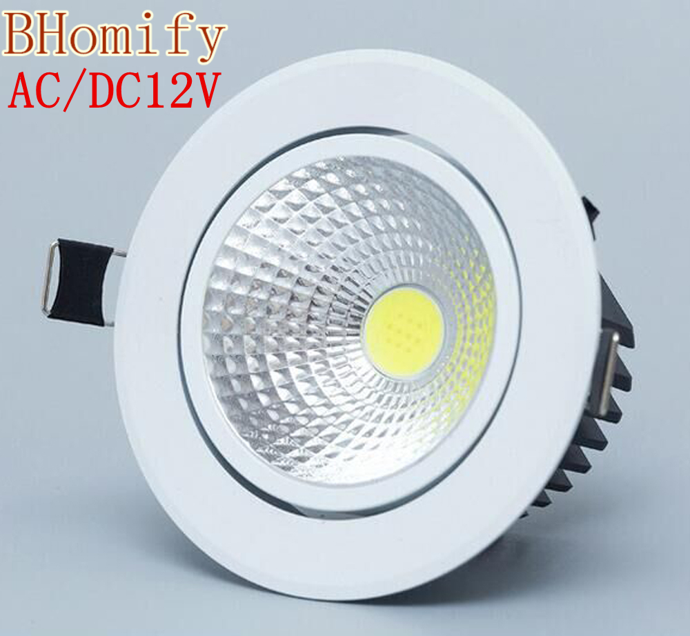 1PCS Dimmable <font><b>Led</b></font> downlight light COB Ceiling <font><b>Spot</b></font> Light 3w <font><b>5w</b></font> 7w 12w AC/DC12V ceiling recessed Lights Indoor Lighting image