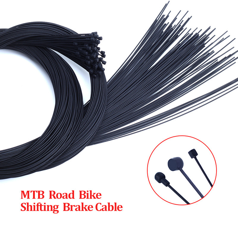 1pc Teflon Coated  Bike Shifter Brake Cable MTB Road  Front Rear Derailleur Brake Wire For Bicycle 2100mm 1550mm 1700mm 1100mm