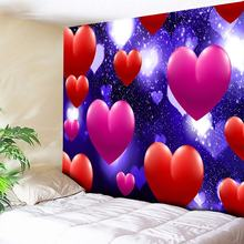 Romantic Home Decor Large Hippie Wall Tapestry Couch Blanket,Dream Love Heart Boho Decorative Wall Carpets Art Hangings 200x150
