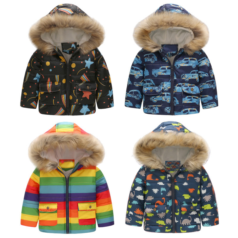 Boys Winter Coats Thick Warm Winter Cotton Jackets Kids Snowsuit with Fur Hooded 2018 Brand Casual Winter Coat for Kids Clothing winter jacket men warm coat mens casual hooded cotton jackets brand new handsome outwear padded parka plus size xxxl y1105 142f
