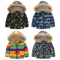 Boys Winter Coats Thick Warm Winter Cotton Jackets Kids Snowsuit with Fur Hooded 2018 Brand Casual Winter Coat for Kids Clothing