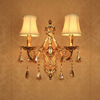 Modern Crystal Wall Sconce Gold Wall Lights for Home Wrought Iron Wall Sconces Gold Modern Wall Lamp for Bedroom for Reading LED