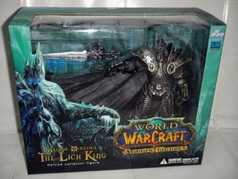various wow pearl of pandaria World of WoW Arthas Menethil Lich King Deluxe Action Figure Statue NIB