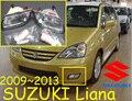 Автомобиль для укладки, Лиана галогенной лампы, вторая рука, не новый, 2009 ~ 2013, Свободный корабль! 2 шт., Liana противотуманная фара; автомобиля крышки, Хром, Liana фар