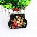 Женщины Леди Ретро классический щедрый Холст Старинные Цветок Маленький Кошелек Hasp Кошелек Сцепления Сумка подарок