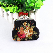 Women Lady Retro classic generous Canvas   Vintage Flower Small Wallet Hasp Purse Clutch Bag gift