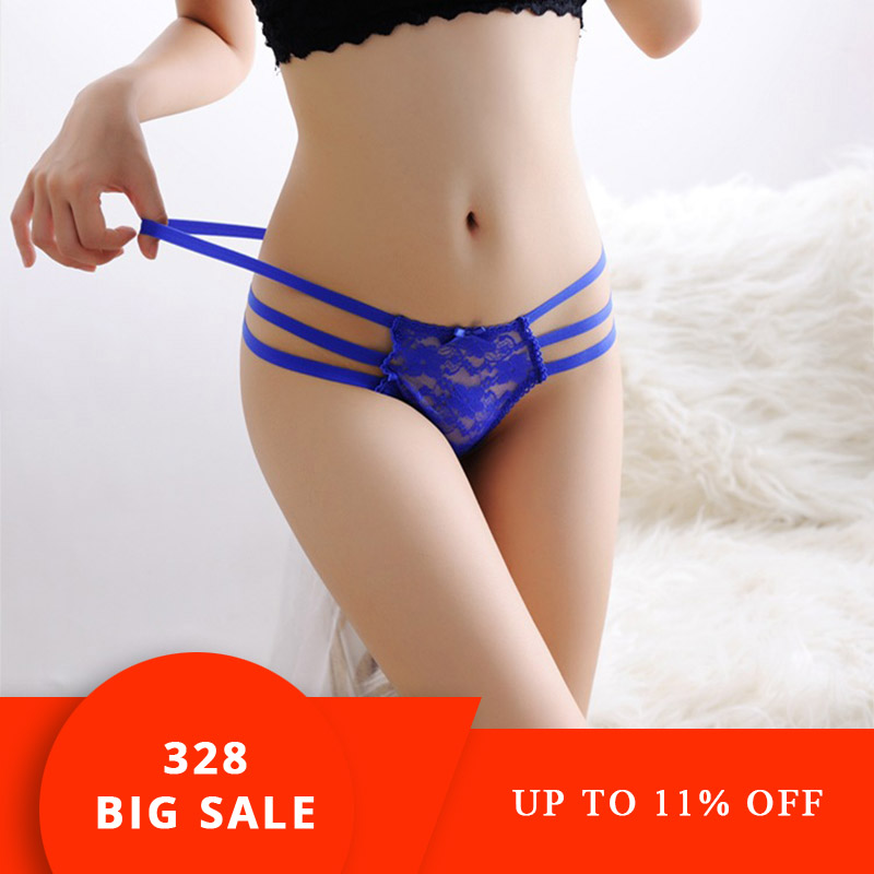 2018 sexy bandage g string thongs women   panties   underwear briefs lace transparent g-string ropa bragas tangas calcinhas knickers