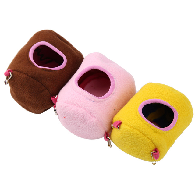 Small Animal Cages Plush Cotton Hammock Hanging Tree Bed Nest House for Rat Hamster Squirrel Parrot Pet Products S L