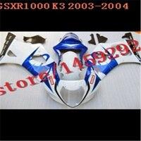 Injection HW Fairing for SUZUKI GSXR1000 03 04 K3 K4 GSXR 1000 2003 2004 fairings kit blue white black GSX R1000 03 04 Ning
