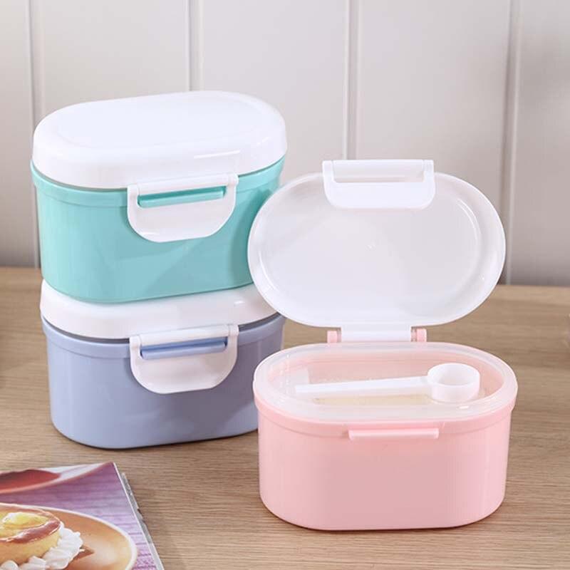 Aufbewahrung Von Säuglingsmilchmischungen Flaschenzuführung Kleinkinder Portable Milch Pulver Formel Dispenser Lebensmittel Container Lagerung Fütterung Box Für Kinder Essen Pp Box Baby Formel Milch Lagerung