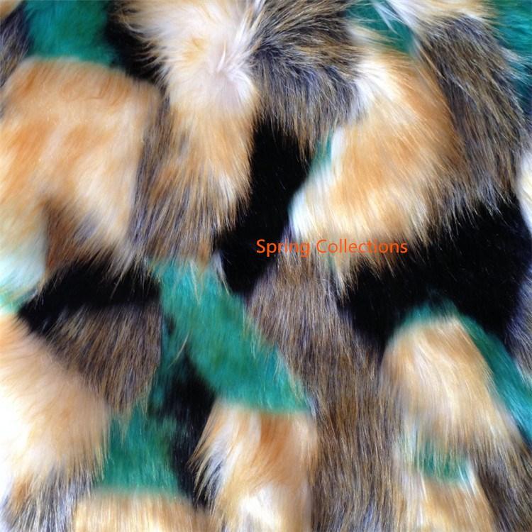 160cm*50cm/pcs High-grade Jacquard Soft Fox Fur,colorful Felt Cloth,Plush Carpet Mats Fabric,DIY Handmade Faux Fur Fabric 2color
