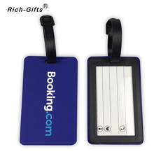 Soft PVC Luggage Tags booking letter custom logo available