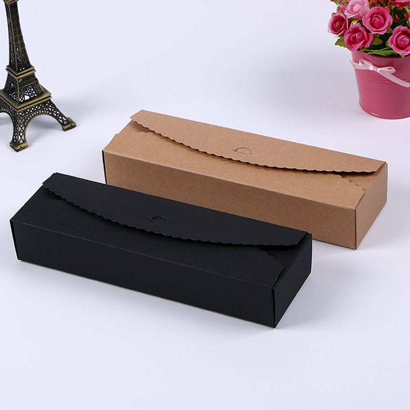 30pcs Blank Gift Box Kraft Paper Bag Candy Cookie Bakery Package Box Party Birthday Decoration Handmade Gift Bag Packing Boxes