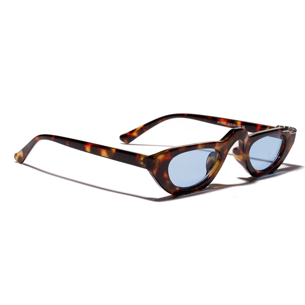 Peekaboo minúsculos óculos de sol para as mulheres do vintage 2019 verão  leopardo preto azul das senhoras pequeno óculos de sol para homens presente  De ... 95011ba159