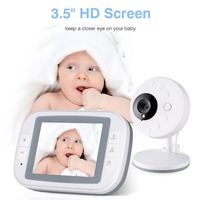 Baby Video Monitor with 3.5inch LCD Display Infrared Night Vision Two Way Remote Control Baby Security Camera Monitor