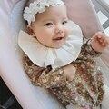 Infant Toddler Chica Mameluco Floral Volantes Otoño Muchacha de Los Cabritos Clothings Dulce Niña Flor Ropa Overoles