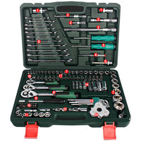 Motor Car Repair Tool Set 120pcs Tool Combination Torque Wrenches Ratchet Socket Spanner Mechanics Tool Kits