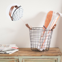 1 PCS Household grocery basket wrought iron storage basket dirty clothes storage basket rustic rough wire basket AP10221657