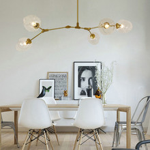 Gold Pendant Lighting Kitchen Modern Pendant Light Bar Glass Lamp Home Large Pendant Lights Study Golden Ceiling Lamp Free Bulbs стоимость