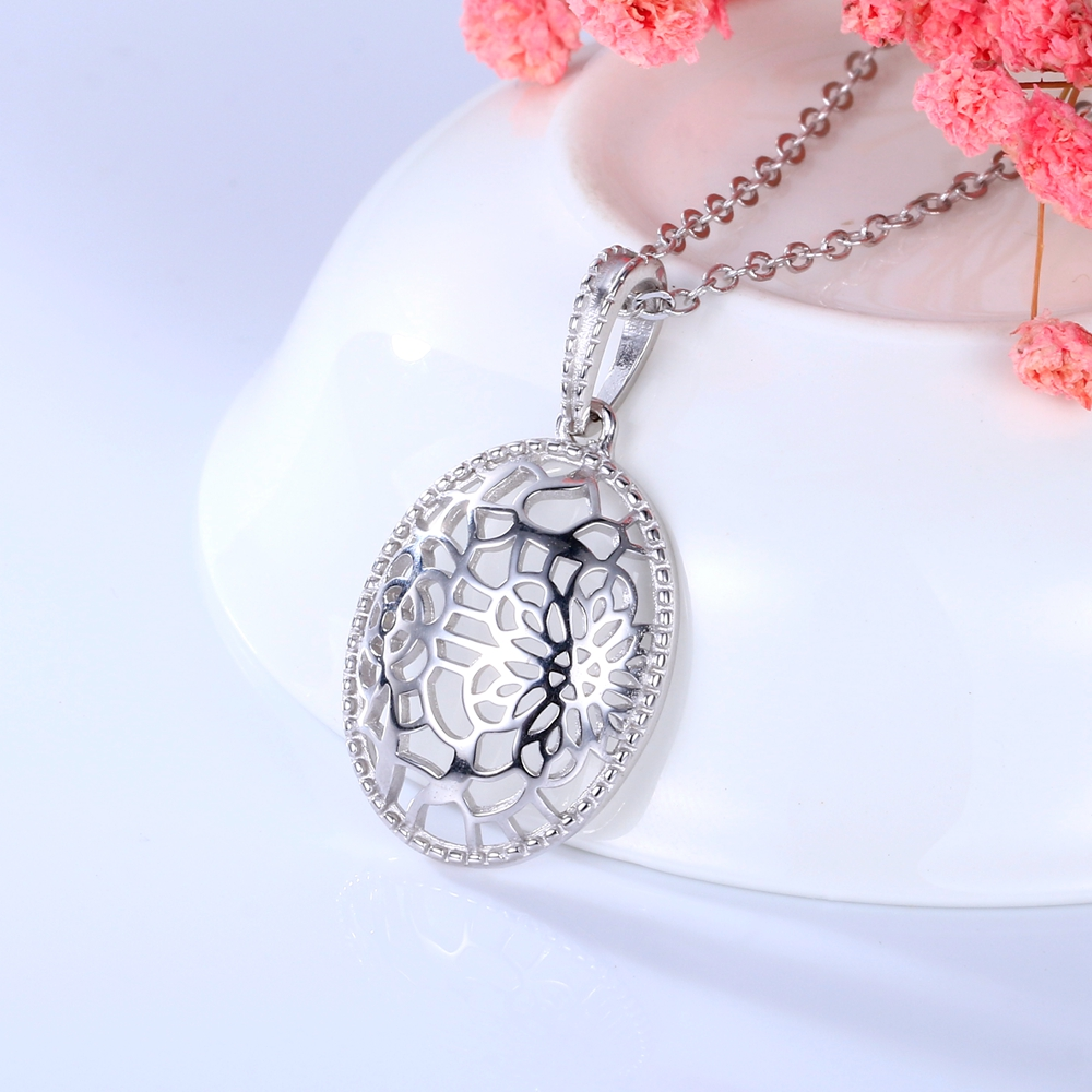 100%S925 sterling silver hollow retro fashion oval luxury wedding elegant party Valentine's D gift