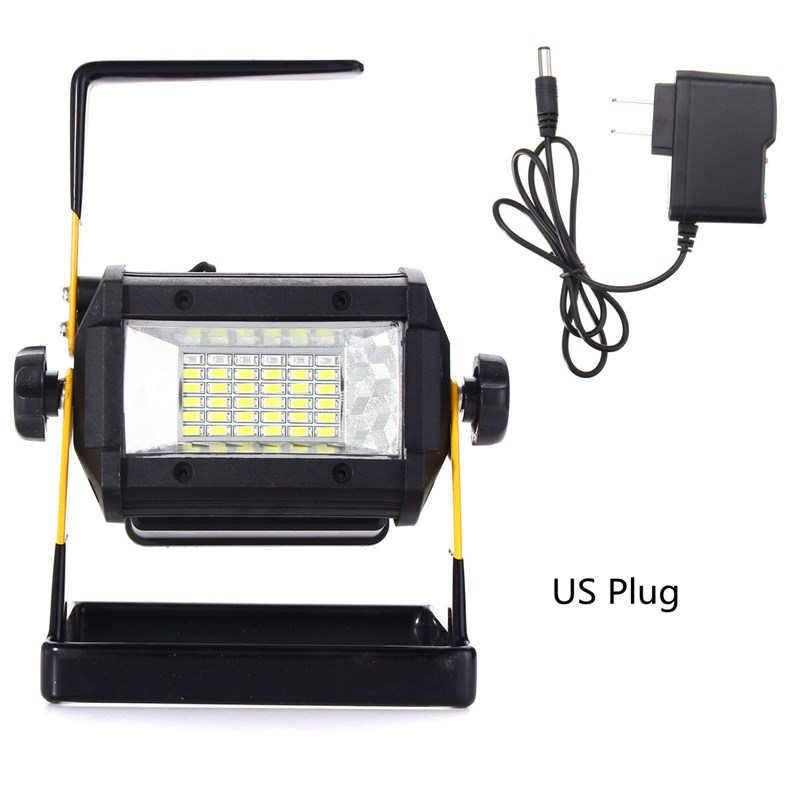 Mising 50W Portable Rechargeable RGB LED Floodlight 36 LED Flood Light Spot Work Camping Lamp Outdoor Light EU/US Plug cob led flood light dimmable 100w portable led floodlight cordless work light rechargeable spot outdoor working camping lamp
