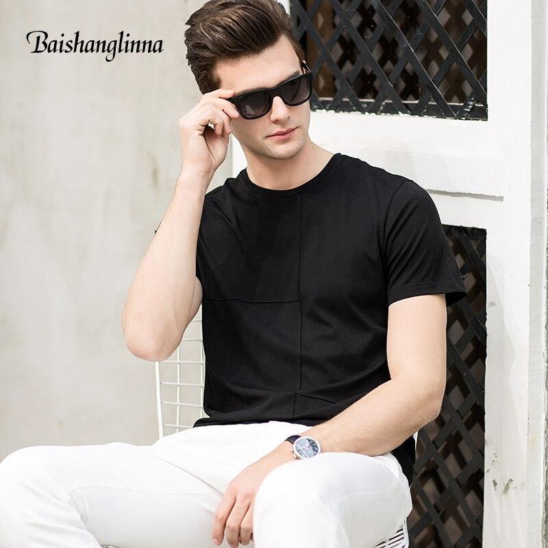 Baishanglinna लघु आस्तीन टी शर्ट - पुरुषों के कपड़े