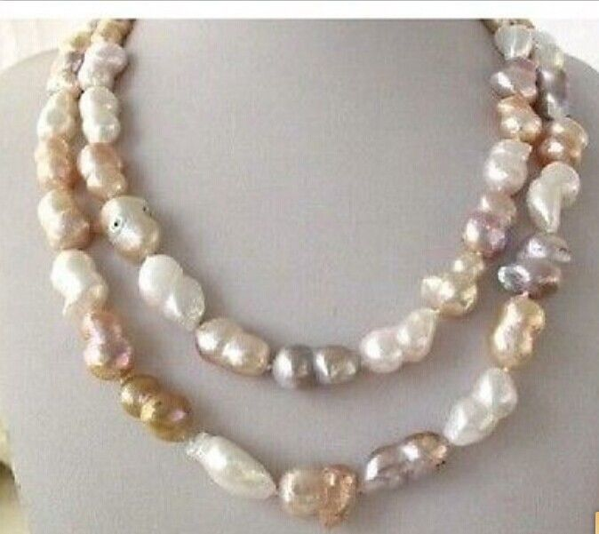Wholesale  >>> 18-22mm natural south sea multicolor pearl necklace 36inchWholesale  >>> 18-22mm natural south sea multicolor pearl necklace 36inch