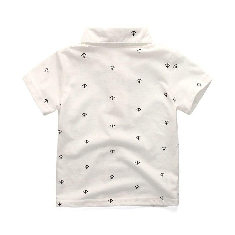 curta camisa calças de algodão carta listrado