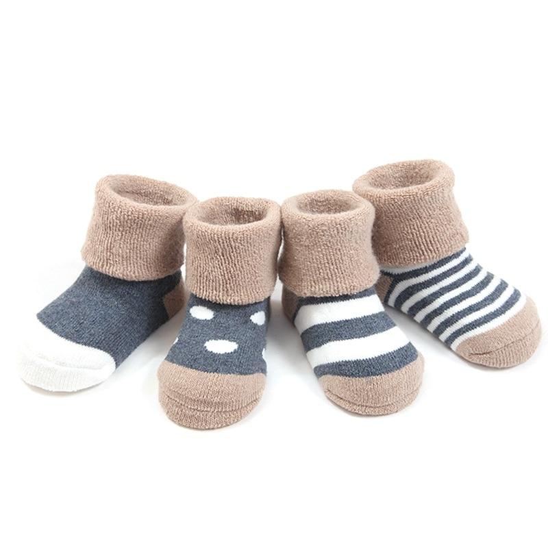 Baby Socks Cotton Winter Thick Tube Socks Baby Socks Cotton Autumn And Winter Newborn Floor Socks 0-1-3 Years Old