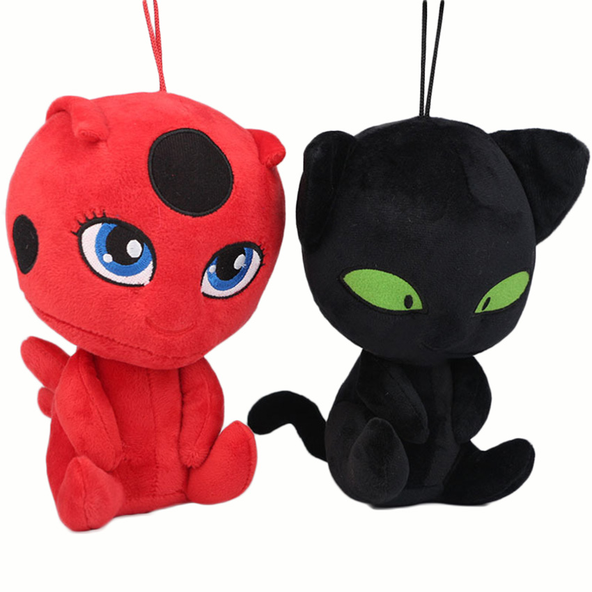 20CM Miraculous Ladybug and Cat Noir Peluche Toys Lady Bug Plagg Tikki Stuffed Dolls toy for kids Children miraculous piano pg 2177