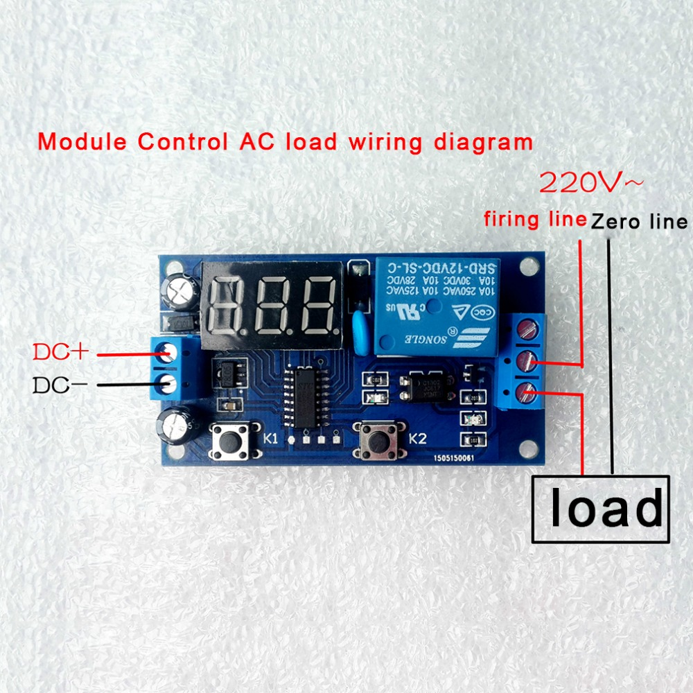 Electrical Dc 12v Time Relay Module Digital Display Trigger Cycle Wiring Diagram Delay Board Yya 3 Top Sale In Relays From Home Improvement On