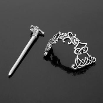 MQCHUN Large Celtics Knots Crown Hairpins Jewelry Vintage Viking Runes Women Girl Hair Clips Stick Slide Accessories  1