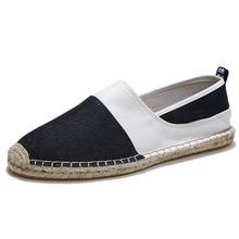 2019 New Breathable Slip On Shoes for Men Casual Canvas Hemp Insole Fisherman Light Shoes Men Espadrille Flats Shoes цена 2017